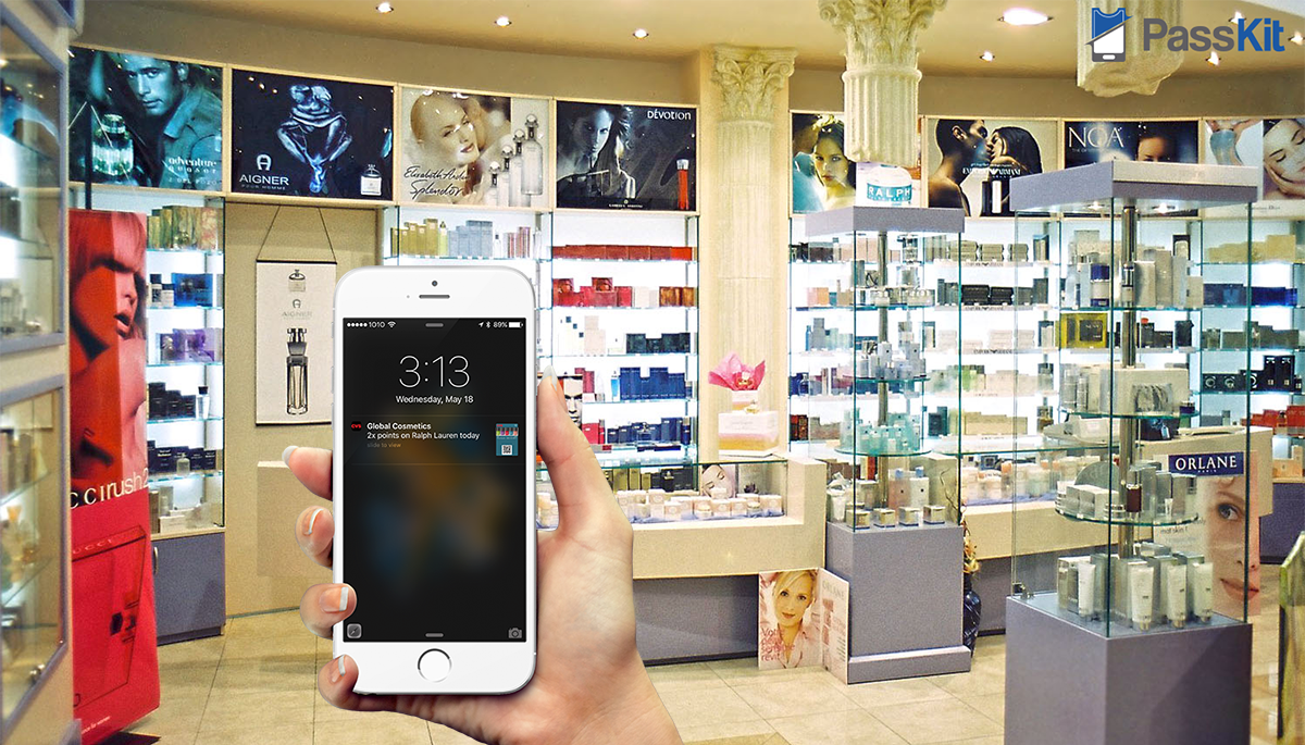 mobile wallet example for cosmetic company