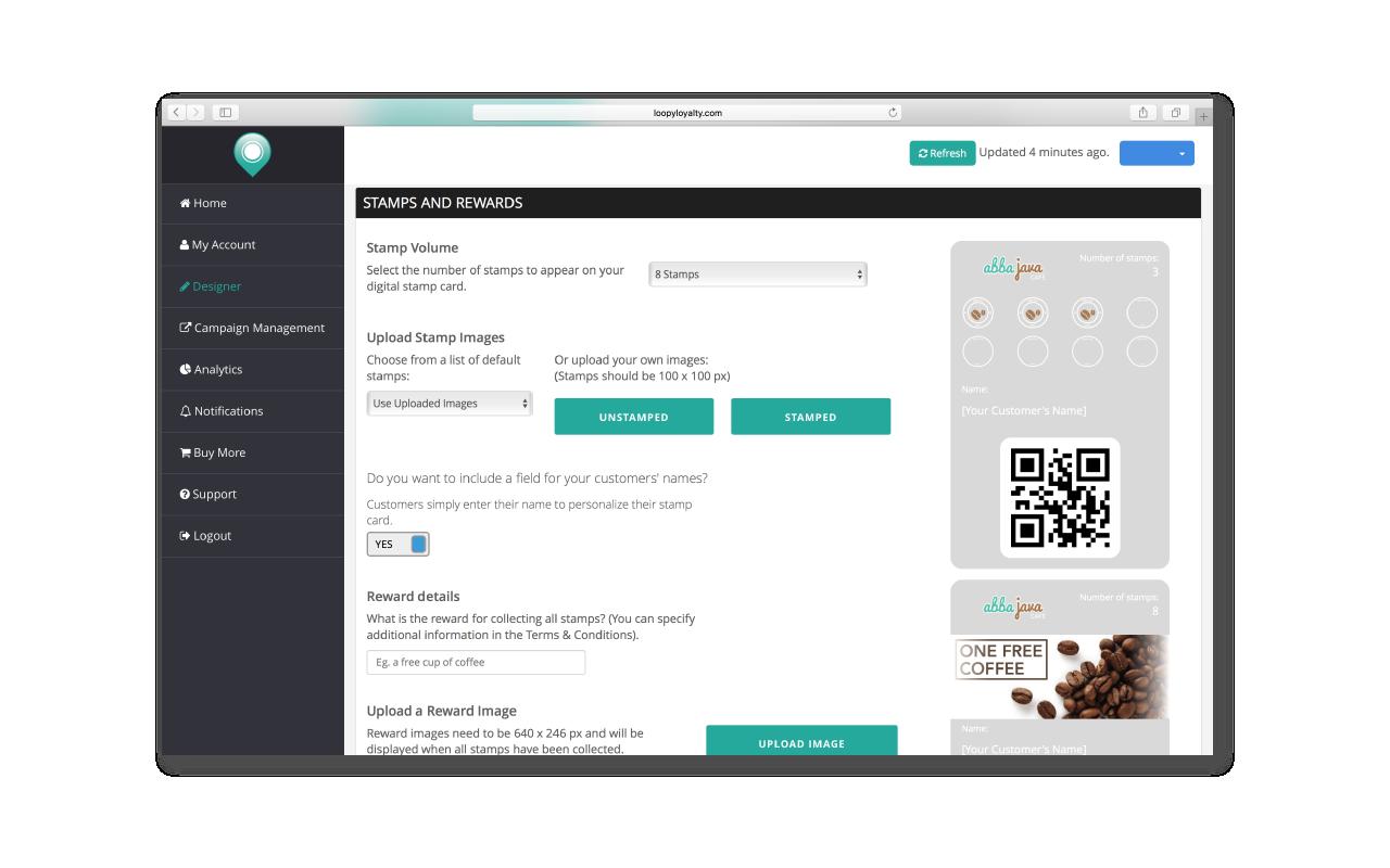 Online Digital Loyalty Card Designer