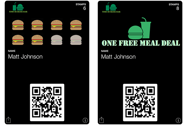 Stamp Cards for Burger Restaurants