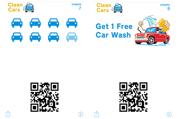 Stamp Cards for Car Wash Services