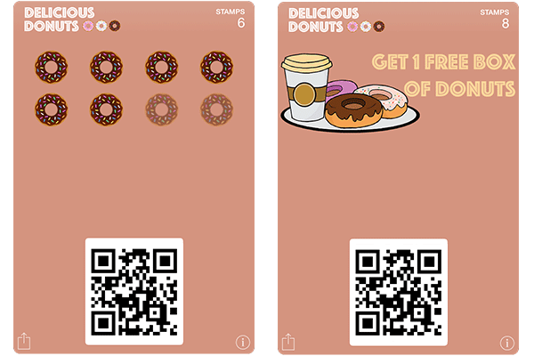 Stamp Cards for Donut Stores
