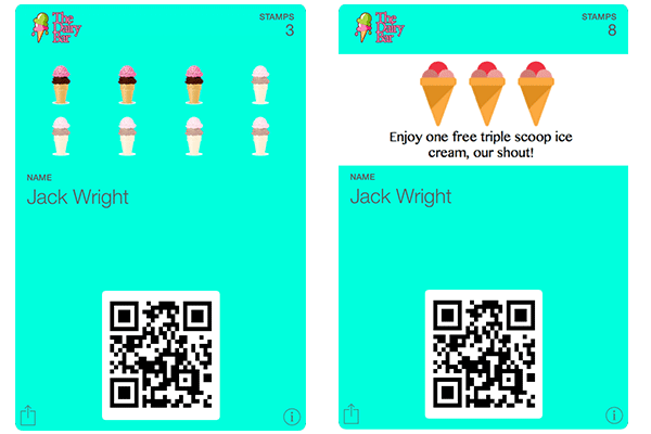 Stamp Cards for Ice-cream Shops