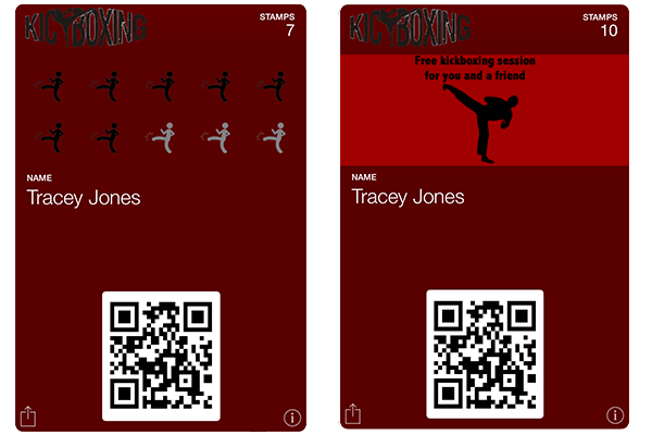 Stamp Cards for Kickboxing Classes