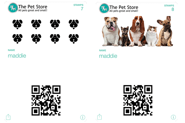 Stamp Cards for Pet Store
