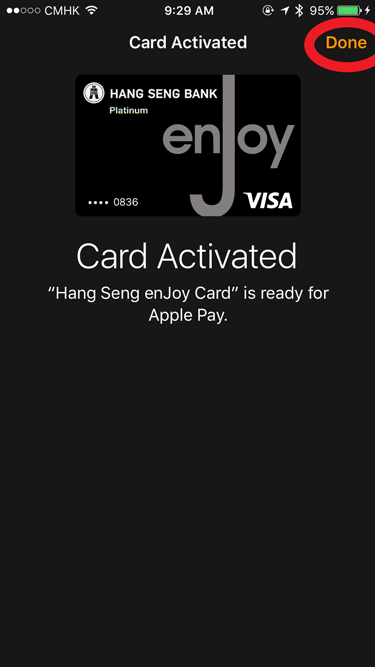 Apple Watch Apple Pay activated