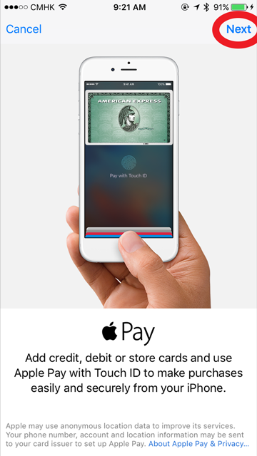 Apple Pay Set up