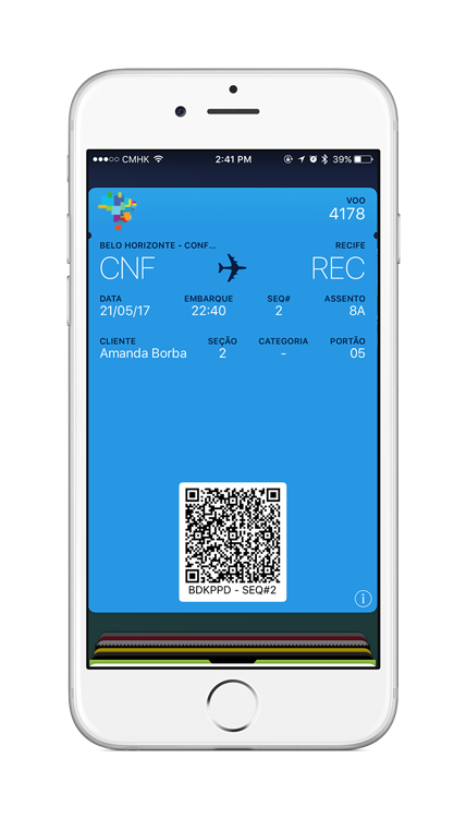 Azul Airways Digital Boarding Passes Mobile Wallet