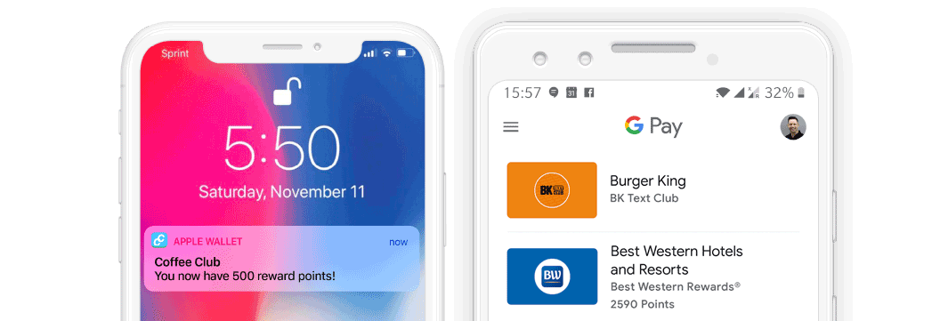 Apple Wallet and Google Pay