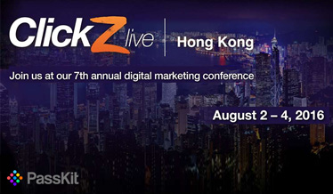PassKit at ClickZ Live Hong Kong 2016